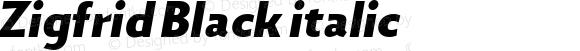 Zigfrid Black italic