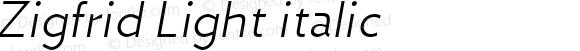 Zigfrid Light italic