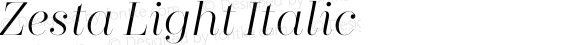Zesta Light Italic