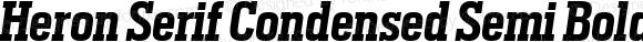 Heron Serif Condensed Semi Bold Italic