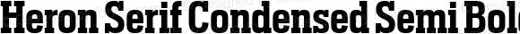 Heron Serif Condensed Semi Bold