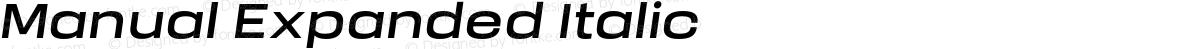 Manual Expanded Italic