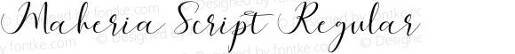 Maheria Script