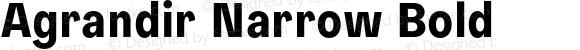 Agrandir Narrow Bold