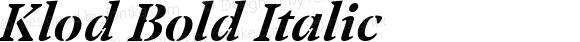 Klod Bold Italic