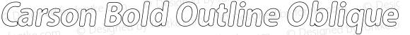 Carson Bold Outline Oblique