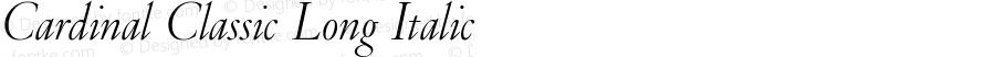 Cardinal Classic Long Italic Version 1.002;PS 1.2;hotconv 1.0.88;makeotf.lib2.5.647800; ttfautohint (v1.3.34-f4db)