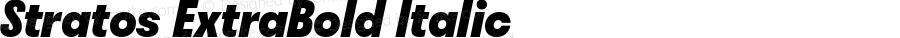 Stratos ExtraBold Italic