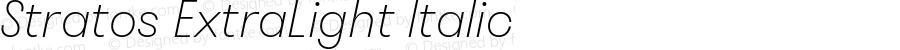 Stratos ExtraLight Italic