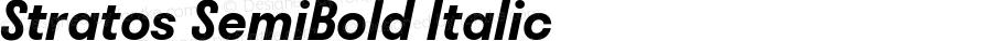 Stratos SemiBold Italic