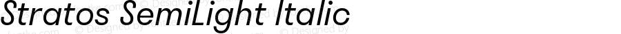 Stratos  SemiLight Italic