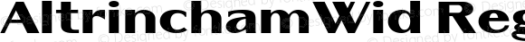 AltrinchamWid Regular Version 1.10