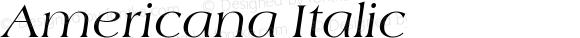 Americana Italic Version 1.00