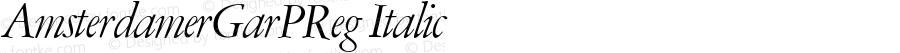 AmsterdamerGarPReg Italic Version 1.00
