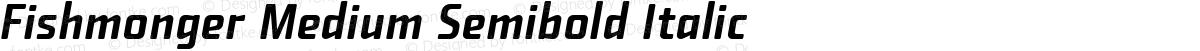 Fishmonger Medium Semibold Italic