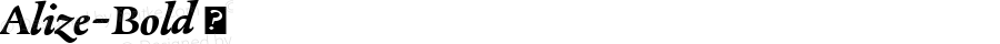 Alize-Bold ☞ Version 1.000;com.myfonts.easy.type-together.alize.bold.wfkit2.version.3ctp