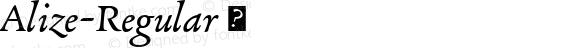 Alize-Regular ☞ Version 1.000;com.myfonts.easy.type-together.alize.regular.wfkit2.version.3ctq