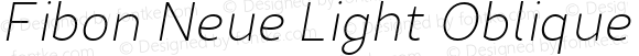 Fibon Neue Light Oblique