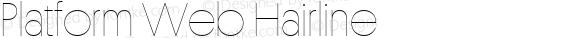Platform Web Hairline