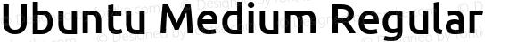 Ubuntu Medium Regular