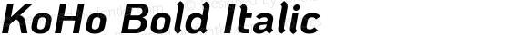 KoHo Bold Italic
