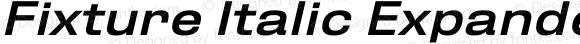 Fixture Italic Expanded Medium