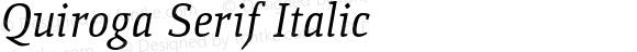 Quiroga Serif Italic
