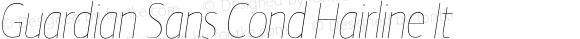 Guardian Sans Cond Hairline It