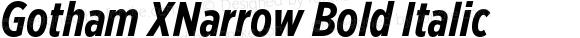 Gotham XNarrow Bold Italic