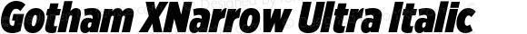 Gotham XNarrow Ultra Italic