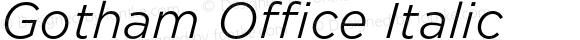Gotham Office Italic