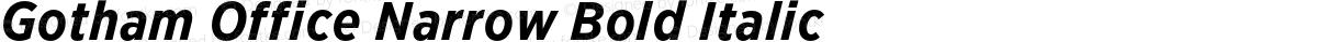 Gotham Office Narrow Bold Italic