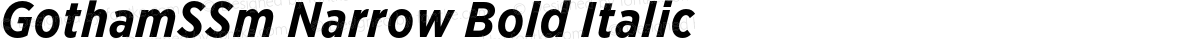 GothamSSm Narrow Bold Italic