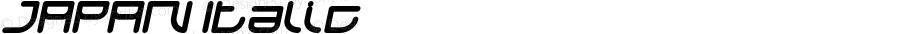 JAPAN Italic Version 1.00;October 7, 2018;FontCreator 11.5.0.2427 64-bit