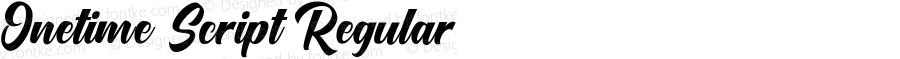 Onetime Script Regular Version 1.00;April 3, 2018;FontCreator 11.5.0.2422 64-bit