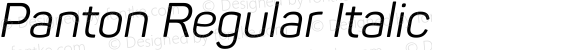 Panton Regular Italic