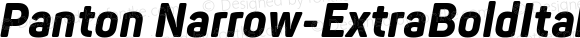 Panton Narrow-ExtraBoldItalic