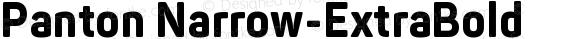 Panton Narrow-ExtraBold