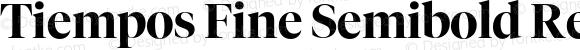 Tiempos Fine Semibold