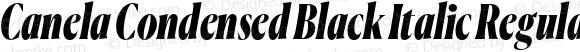 Canela Condensed Black Italic