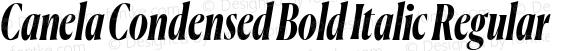 Canela Condensed Bold Italic