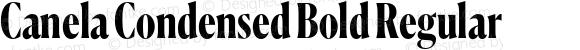 Canela Condensed Bold