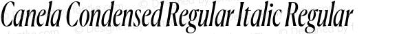 Canela Condensed Regular Italic