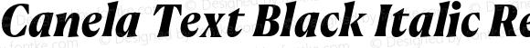 Canela Text Black Italic