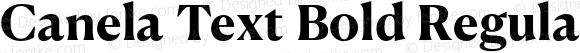 Canela Text Bold