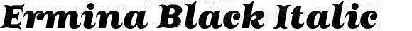 Ermina Black Italic