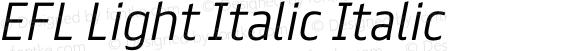 EFL Light Italic Italic