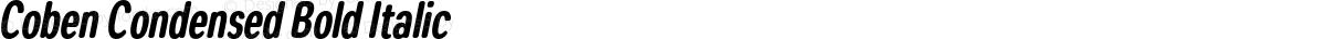 Coben Condensed Bold Italic