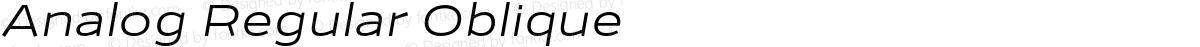 Analog Regular Oblique