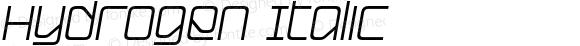 Hydrogen Italic